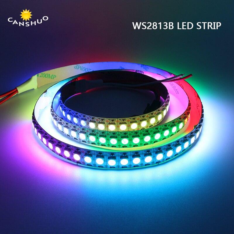 5V Waterproof WS2813B 30/60/144Leds/M LED Strip Individually Addressable RGB Smart Pixel Strip1m/4m/5m WS2813 IC Black/White PCB