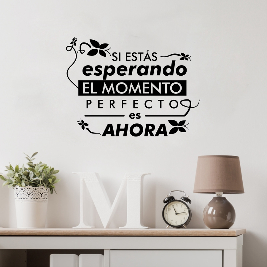 Spanish Life Quote Removable Vinyl Wall Sticker Home Decor , Spanish ...