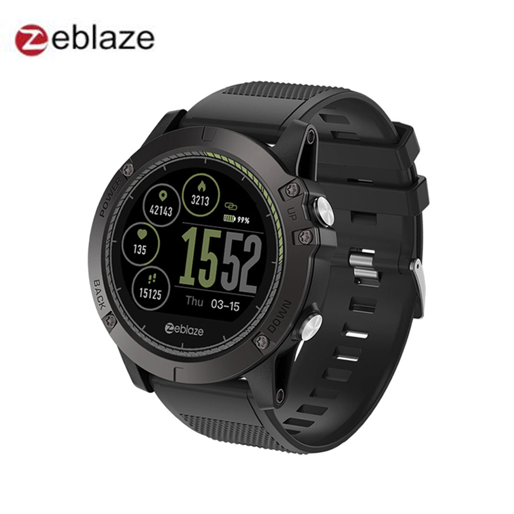 New Zeblaze VIBE 3 HR Smartwatch IP67 Waterproof Wearable Device Heart Rate Monitor IPS Color Display Sport Smart Watch g6 tactical smartwatch
