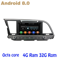 Android 8.0 Octa core PX5 car dvd gps for Hyundai Elantra 2016 2017 with 4G RAM 32G ROM wifi 4g usb auto Multimedia