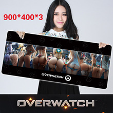 900 400 3mm Customized Overwatch Gaming Mouse Pad Thicken Anti Slip Laptop PC Mice Pad Bigger
