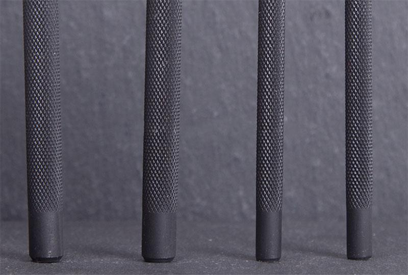 artesanato de couro ponto diamante preto picar