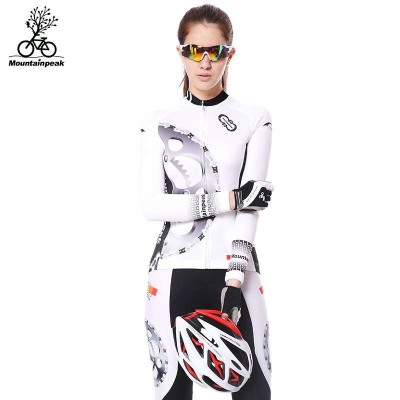 Mountainpeak 2017 long sleeve autumn cycling jersey sets women quick dry breathable bike bicycle clothing equipment 2017 new комплект ковриков в салон автомобиля novline autofamily great wall hover h5 tda 2010