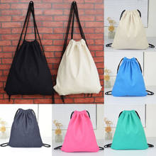 Cute Solid Color High Quality Drawstring Bag Waterproof Swimming School Gym The Latest Storage Sport Bags(China)