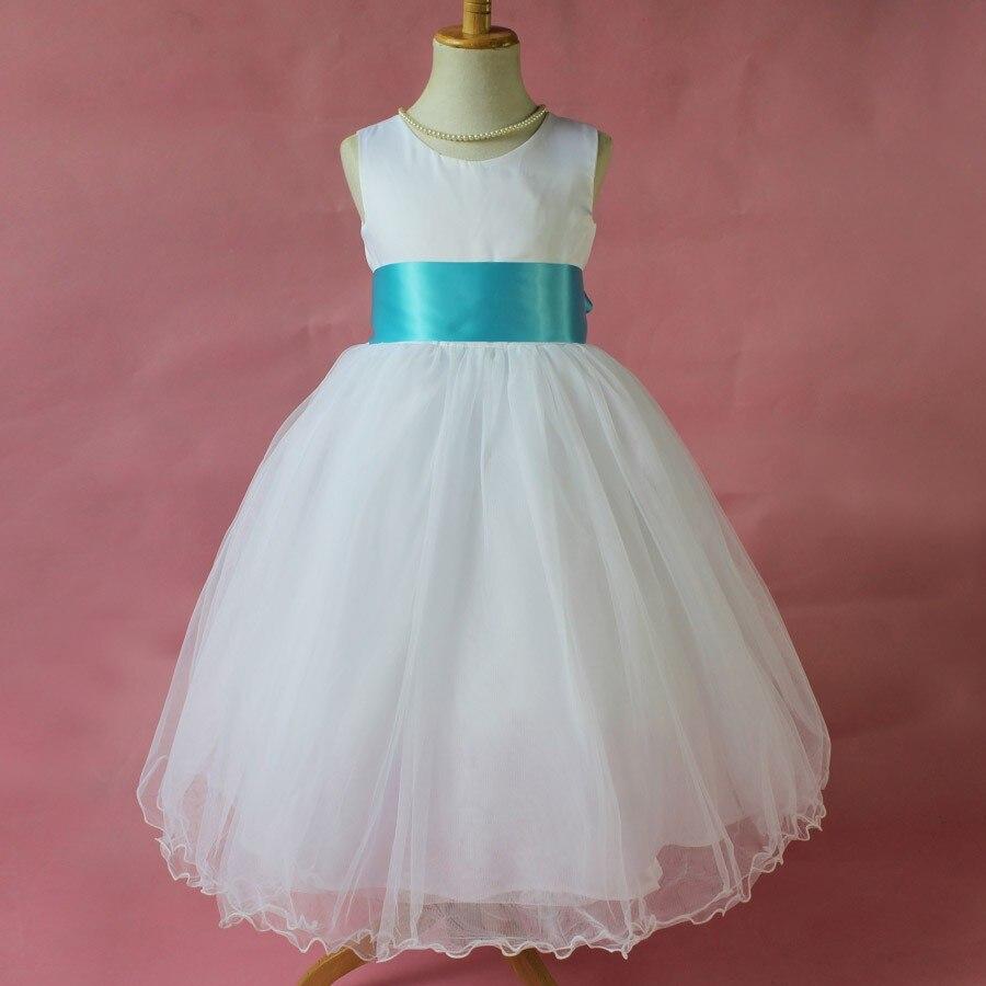 2016 Flower Girl Dresses Summer Cheap White Dress For Children With ...