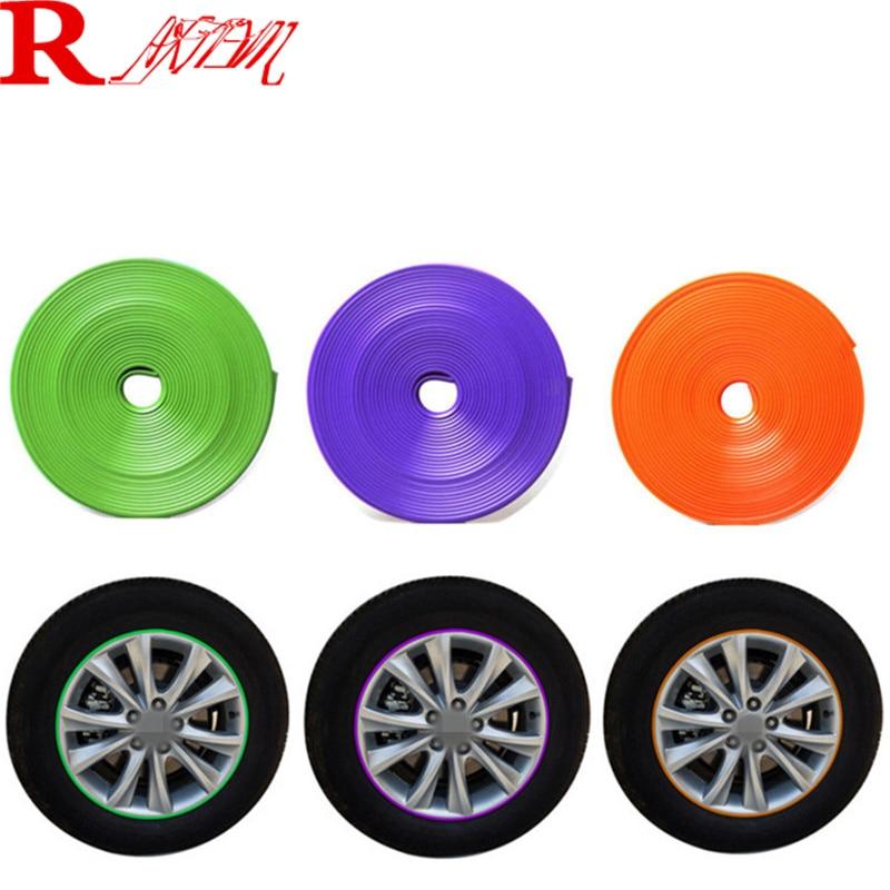 8M Car Wheel Hub Tire Protection Sticker For Toyota Camry Corolla RAV4 Highlander Land Cruiser PRADO Vios Prius