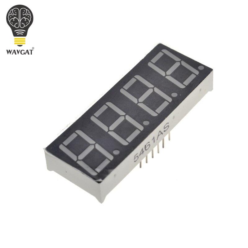 0.56 Inch 4bit Common Cathode Digital Tube Red LED Digit Display 7 Segment 0.5inch 0.5 0.56 Inch 0.56'' 0.56in. 4 Four Bit