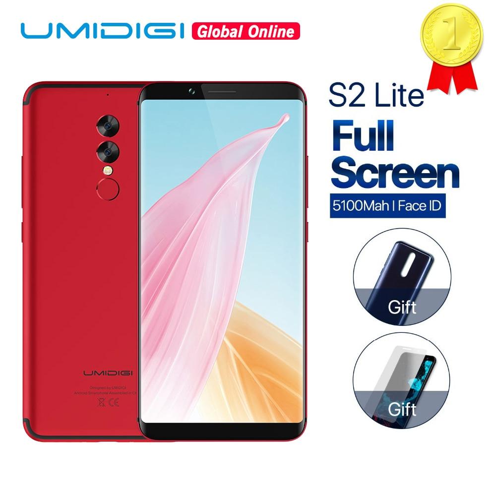 UMIDIGI S2 Lite 5100 mAh grande batterie 4 GB + 32 GB Smartphone 4G LTE 6.0 pouces 18:9 plein écran visage ID Octa Core téléphone portable 16MP + 5MP