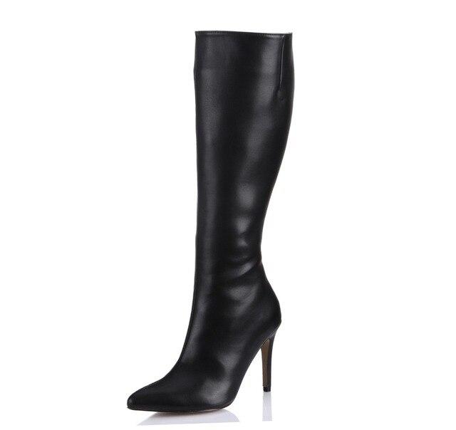varietà di stili del 2019 allacciarsi dentro nuovo autentico US $51.75 25% di SCONTO|2018 autunno nuovo punta aguzza sexy tacchi alti  stivali moda con tacco stiletto stivali alti al ginocchio partito delle ...