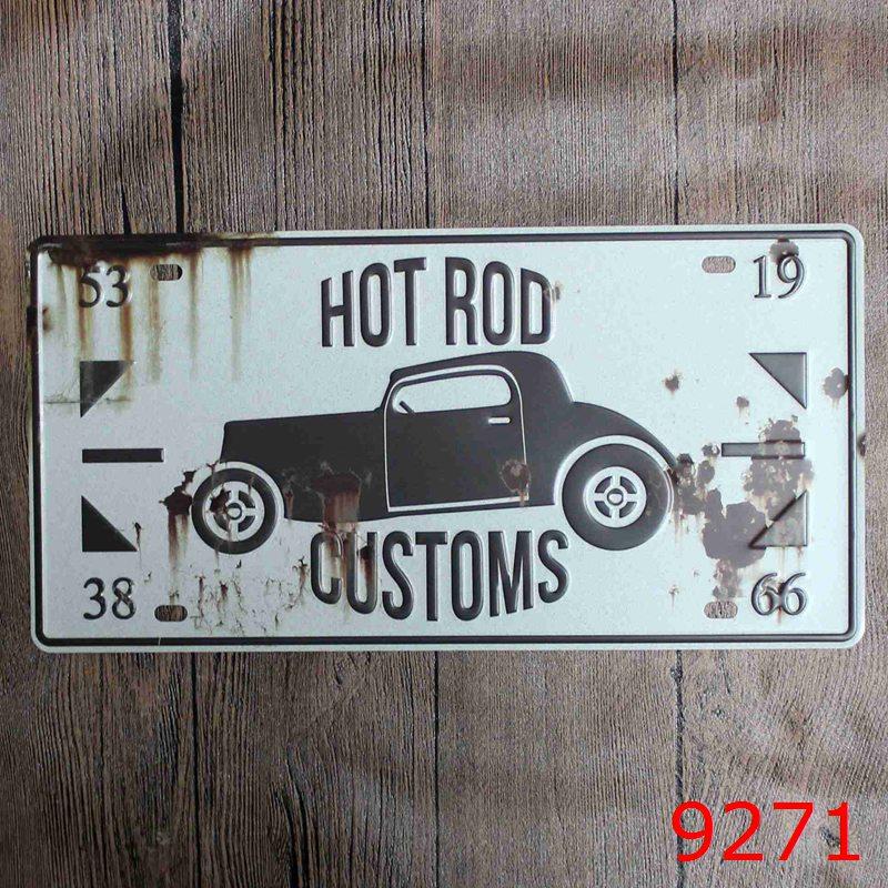 Car Bar Decorative Metal Plates Vintage Metal Tin Sign Bar Wall