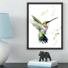 Canvas Painting Bird Natural Nordic poster Abstract Wall Pictures Living Room Art Decoration Pictures No Frame(China)