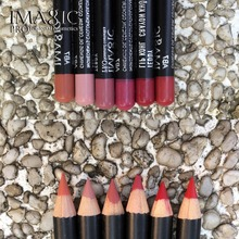 IMAGIC Lip Gloss Lipliner Kit Waterproof Strawberry Long Lasting Gloss Matte Lipstick Kit Lip Paint Lip Combination