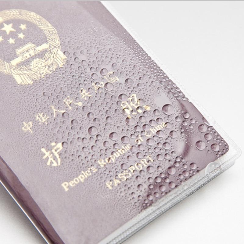 1 Stücke Wasserdicht Transparent Reisepass Karte Halter Pvc Wasserdicht Reisepass Abdeckung Kreditkarte Halter Aluminium H081 Erfrischung
