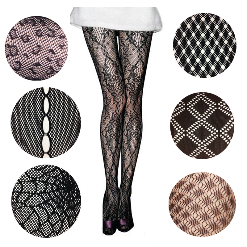 LIMSISNIW Plaid / Animal Design Women Fashion Fishnet Nylon Tights with Pattern Exquisite Individual Pantyhose