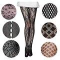 Xadrez/Animal Design Mulheres Moda Fishnet Collants De Nylon com Padrão Individual de Embalagem Requintada Boa Elasticidade Meia-calça