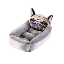 Cartoon Pet Dog Bed Warm Cat Puppy Cushion Cute Sofa Beds House For Small Dogs Mattress Products