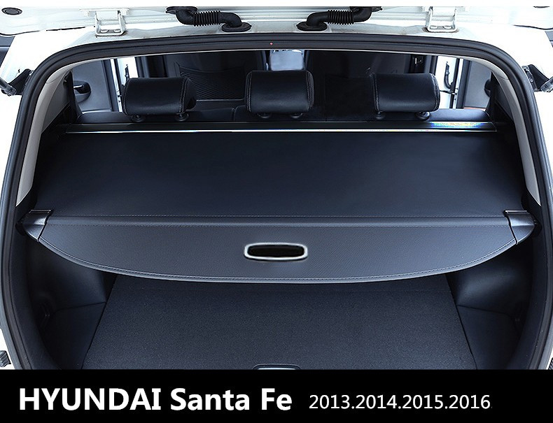 Car Rear Trunk Security Shield Cargo Cover For HYUNDAI Santa Fe 2013.2014.2015.2016 High Qualit Auto Accessories car rear trunk security shield cargo cover for dodge journey 5 seat 7 seat 2013 2014 2015 2016 2017 high qualit auto accessories