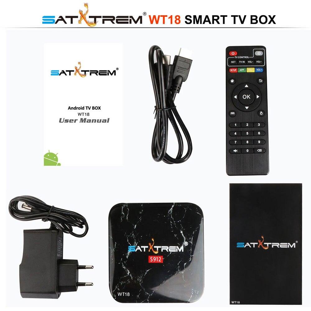 SATXTREM WT18 Amlogic S912 Octa base Android 7.1 TV Box 3 Gb DDR3 32 GB 2.4G/5 GHz WIFI Gigabit LAN Google Play Smart Set Top Box