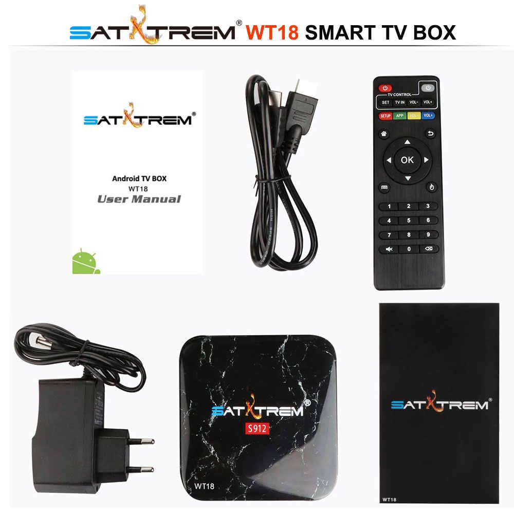 Satxtrem WT18 Amlogic S912 Octa Core Android 7.1 TV Box 3 GB DDR3 32GB 2.4G/5GHz wifi Gigabit LAN Google Chơi Thông Minh Set Top Box