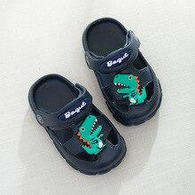 469fdf93ae5 Bebé Zapatos de hoyo Zapatos Niño anti-deslizamiento suela suave de  interior Casa de Niños los niños dinosaurio sandalias zapati.