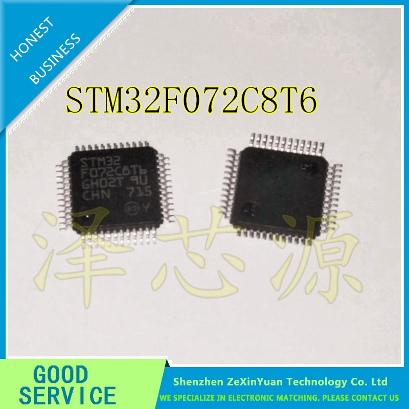 10PCS/LOT STM32F072C8T6 LQFP48 SINGLE CHIP STM32F072 PROFESSIONAL AGENT NEW 10pcs lot free shipping stm32f072c8t6 stm32f072 lqfp 48 micro controller chip ic
