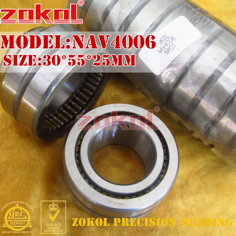 ZOKOL bearing NAV4006 Full bore needle roller bearing with inner ring 30*55*25mm 0 25mm 540 needle skin maintenance painless micro needle therapy roller black red