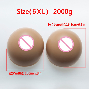 2000g F CUP Women Silicone Fake Breast Forms Full Boobs Enhancer Cross Dresser Artificial Silicone Breast Forms Fake Boobs