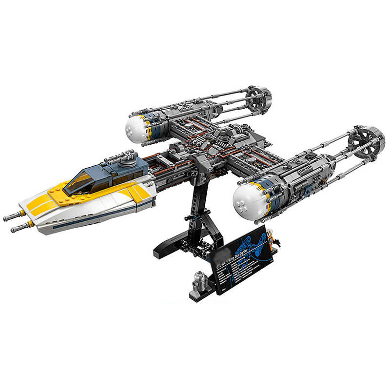 Star Wars Y-wing Fighter STARWARS Building Blocks Sets Bricks Classic Model Kids Toys Marvel Compatible Legoings 75181