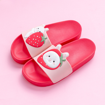 Cartoon Bear Rabbit Slides Women Summer Slippers Fruits Strawberry Banana Panda Home Slippers Sandals Women Shoes Flip Flops 1