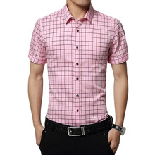 Popular Pink Plaid Shirt Men-Buy Cheap Pink Plaid Shirt Men lots ...