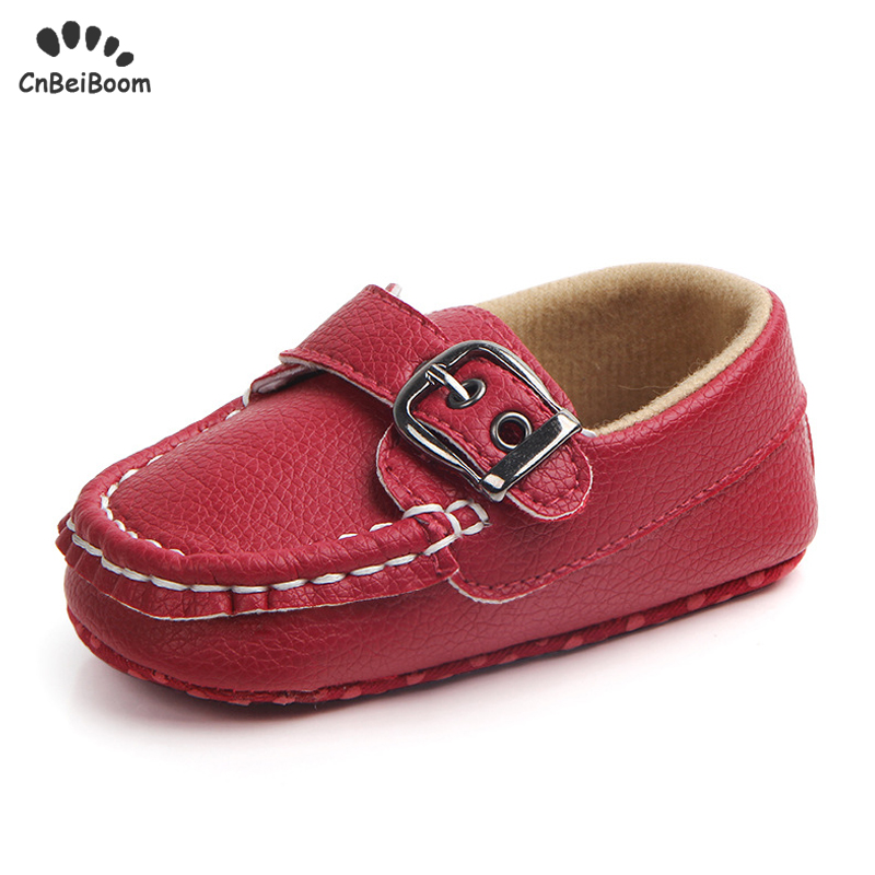 Leather Shoes Baby Boy Moccasin Infant Boy Shoes Black Baby First Walkers Shoes New Born Leather Red Black White Baby Boy Shoes