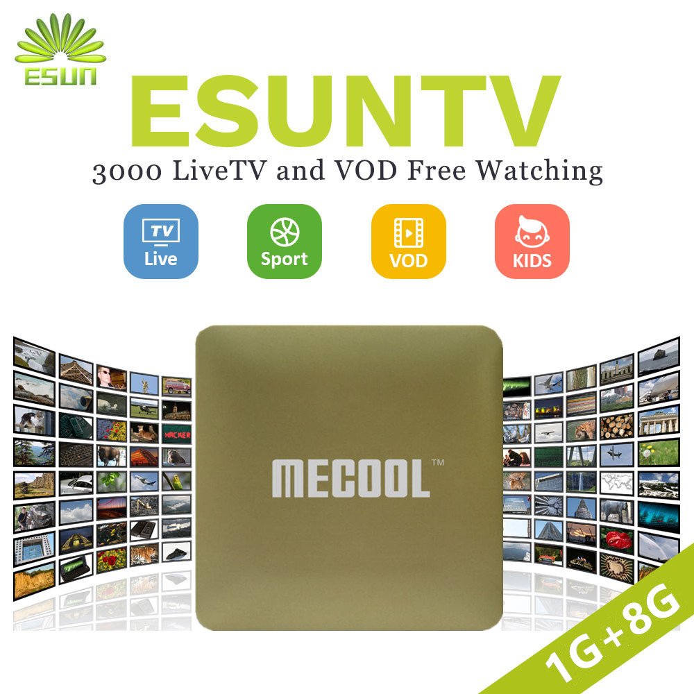 3000+ESUN-TV HM8 IPTV Android 6.0 TV Box Arabic Spain UK French Germany Italy Turkish Netherlands Sweden Portugal EX-YU xxx