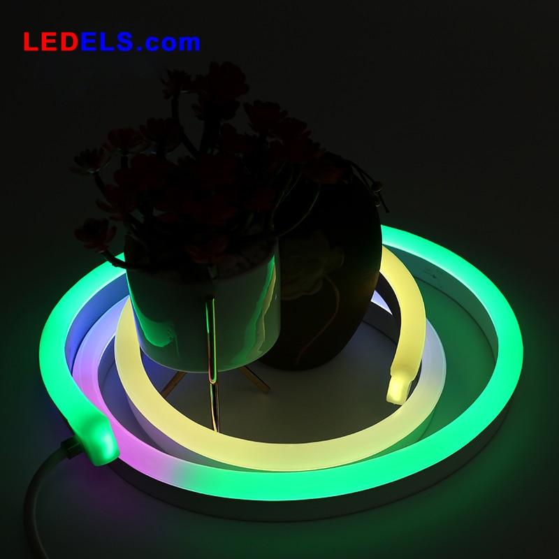 12V 10 mètres avec contrôleur Silicone IP68 numérique pixel lumière bande adressable full led néon flex néon ampoules led RVB 60leds/M