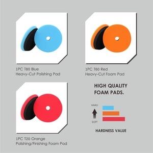 Image 3 - SPTA מתחם ליטוש רפידות עבור 5 אינץ לטש מרוט חיץ כרית סט עבור DA / RO הכפול פעולה רכב לטש סנדר לבחור צבע