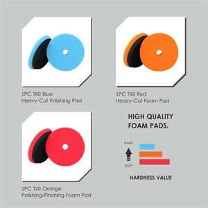 Image 3 - SPTA Compound Polishing Pads for 5 inch Polisher Buffing Buffer Pad Set For DA / RO Dual action Car Polisher Sander Select Color