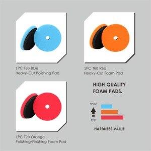 Image 3 - SPTA – tampons de polissage pour polisseuse de voiture, 5 pouces, ensemble de tampons de polissage pour DA/RO, double action, couleur sélectionnée