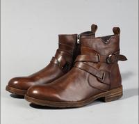 Новые кожаные мужские ботинки с мягкой подошвой, Ботинки martin в стиле ретро, ковбойские ботинки, уличные трендовые рабочие ботинки на толсто