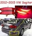 Carro-styling, Jetta luz Quebra, 2012 ~ 2015, levou luz, Livre O navio! 2 pcs, Jetta luz traseira, carro-detector; luz de nevoeiro Jetta, Golf7, Touareg, Sagitar