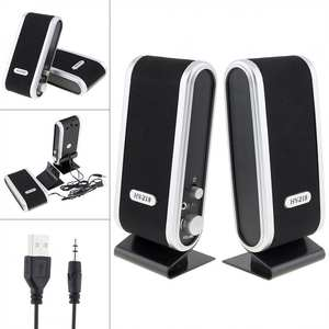 Speakers Stereo Hy-218 Microphone Computer Audio-Jack Laptop Usb-Power Mini 6w for Pc