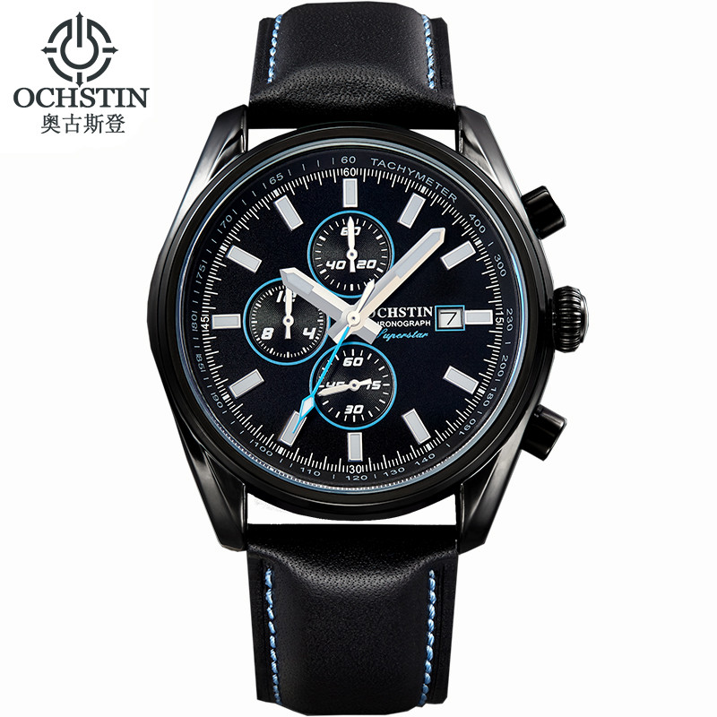 2016 Sale Real Ochstin Watches Men Luxury Brand Chronograph Quartz Watch Waterproof Analog Military Relogio Clock