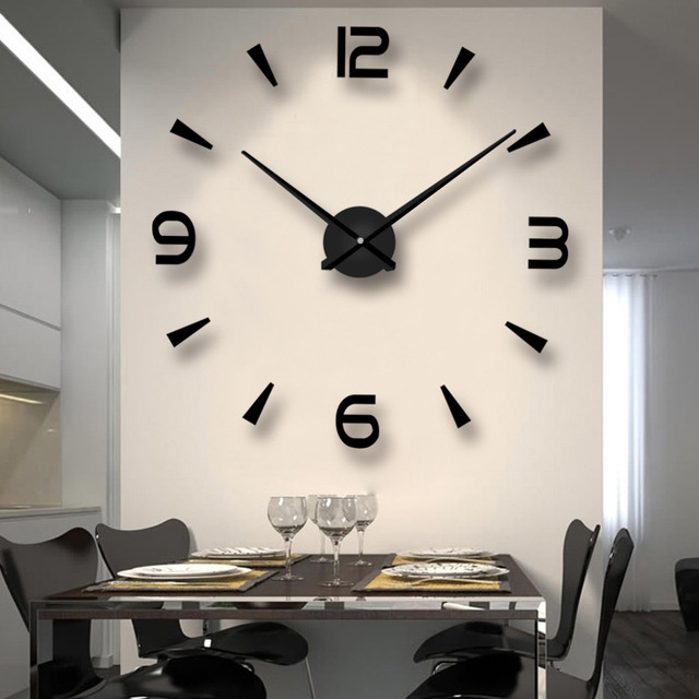 Large DIY Wall Clock Modern Design Big Clocks Decorative Living Room ...