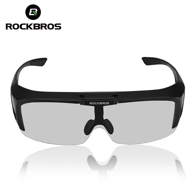 RockBros Polarized Cycling Sunglasses Bike Goggles Ride Hike Glasses White UV400