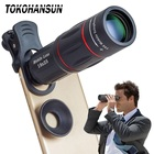 TOKOHANSUN Cell Phone Camera Lens HD Universal 18X 12X Telescope Zoom Telescope Mobile Phone Lens for IPhone X Lg Smartphones