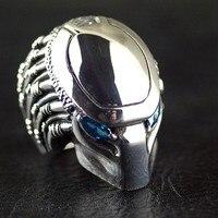 Таиланд Импорт, тяжелый властная 925 пробы Серебряный Хищник мужское серебряное кольцо