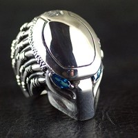 Thailand imports heavy domineering S925 Sterling Silver predator Men Silver Ring thai silver for man