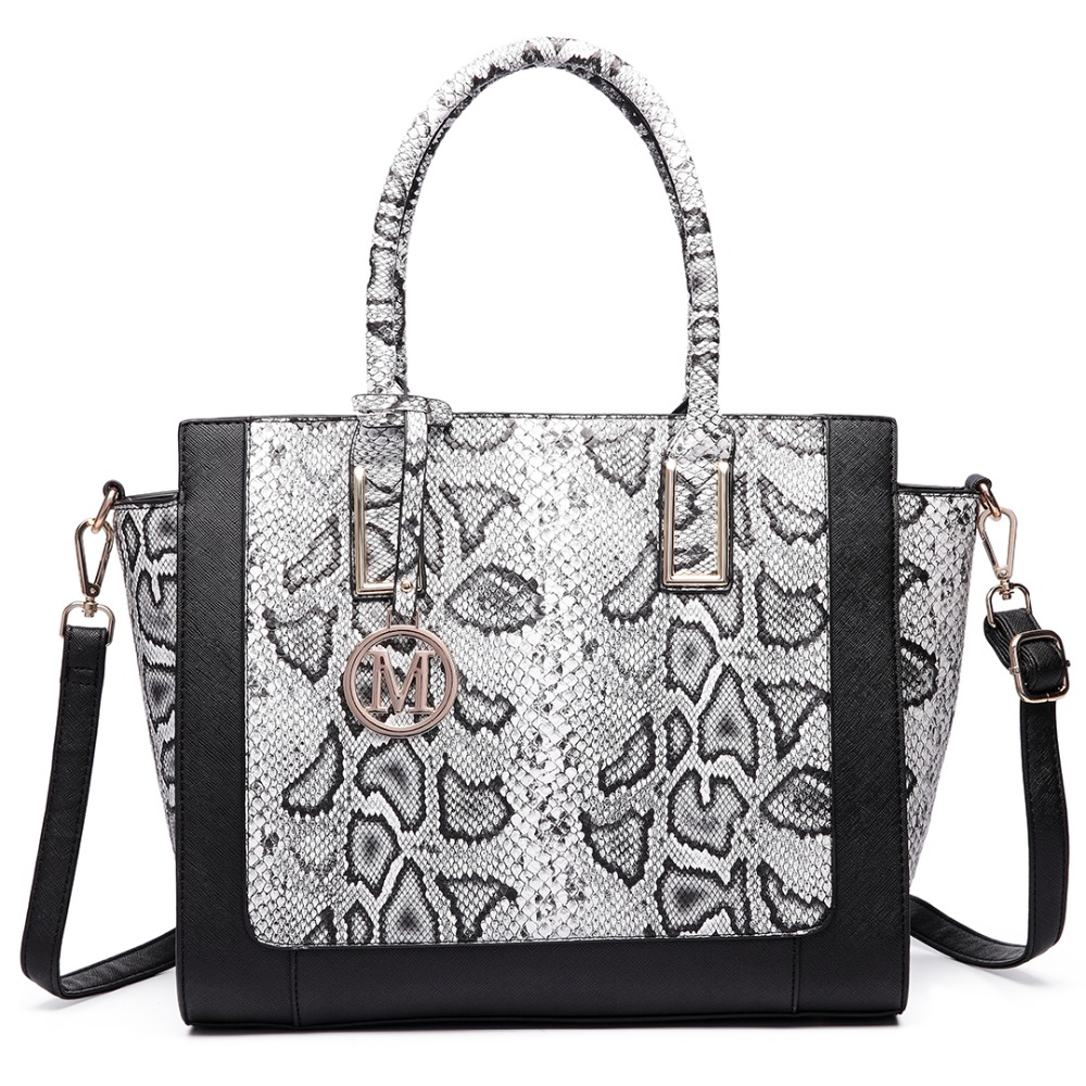Gorgeous Snake Skin Print Bag Quality Over Quantity Price: New Fashion Women Handbags Faux Leather Beautiful