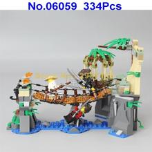 06059 334pcs Ninja Movie Series Master Falls Lepin Building Block Compatible 70608 Brick Toy