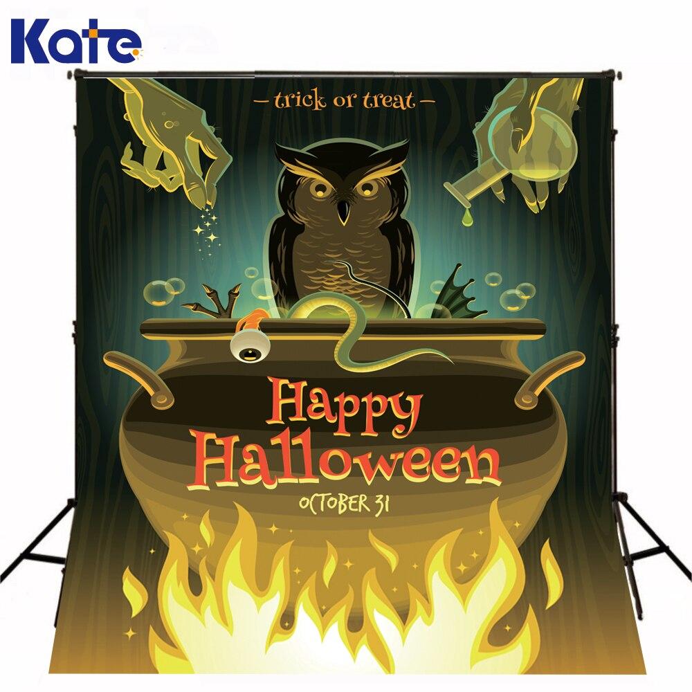 Papier De Parede bande dessinée Halloween fête astuce ou traiter toile De fond De Studio De Photo pour Halloween Kate toile De fond