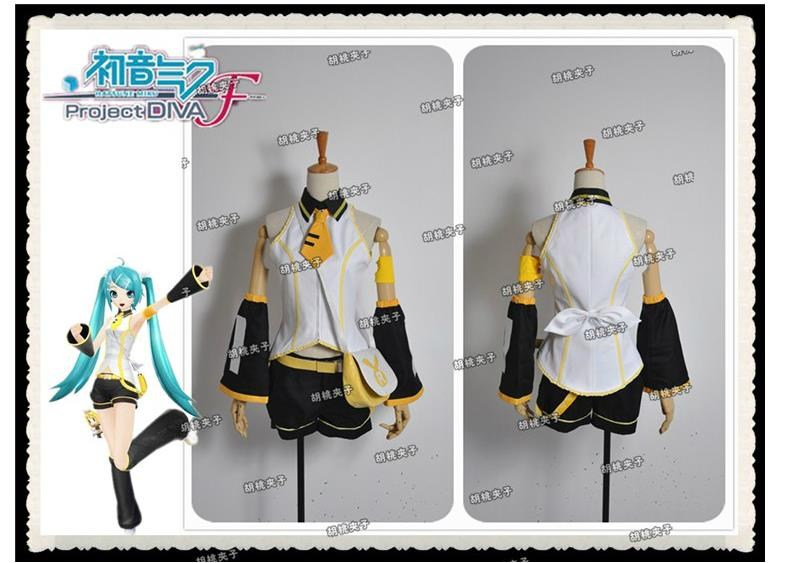 Vocaloid Hatsune Miku Project Diva F MIKU Additional Song Cosplay Costume Uniform image