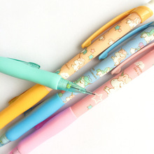 48 Pcs/lot 0.5 Mm Unicorn Plastic Mechanical Pencil Automatic Pen with Eraser for Kid School Office Supply